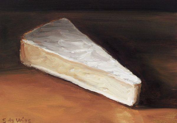 Schilderij Brie, olieverf op paneel, 13 x 18 cm, Serge de Vries