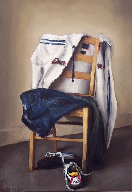 Schilderij Portret, olieverf op paneel, 26 x 18 cm, Serge de Vries