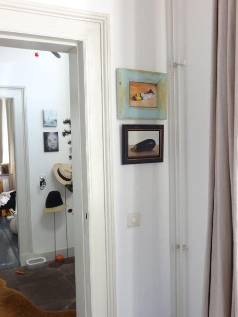 Interieur schilderijen Aubergine en Tube verf nr2, olieverf op ...