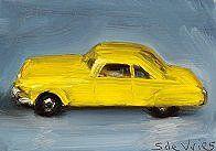 Schilderij Dinky toy nr7, olieverf op paneel, 5 x 7 cm, Serge de Vries