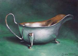 Schilderij Jus kan, olieverf op paneel, 13 x 18 cm, Serge de Vries