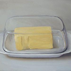 Schilderij Botervloot, olieverf op paneel, 13 x 18 cm, Serge de Vries
