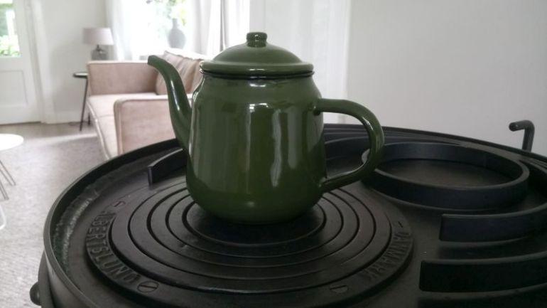 Groene theepot origineel