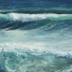 Golf nr4, olieverf op paneel, 13 x 23 cm, Serge de Vries