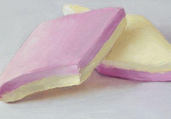Detail Spekjes, olieverf op paneel, 11 x 16 cm, Serge de Vries
