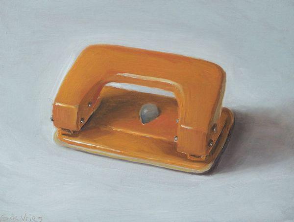 Perforator, olie op paneel, 13 x 17 cm, Serge de Vries