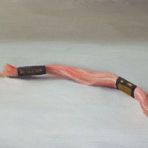 Borduurgaren, olieverf op paneel, 12,5 x 18 cm, Serge de Vries