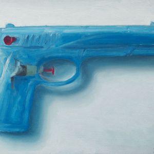 Waterpistool nr2, olieverf op paneel, 13 x 20 cm, Serge de Vries