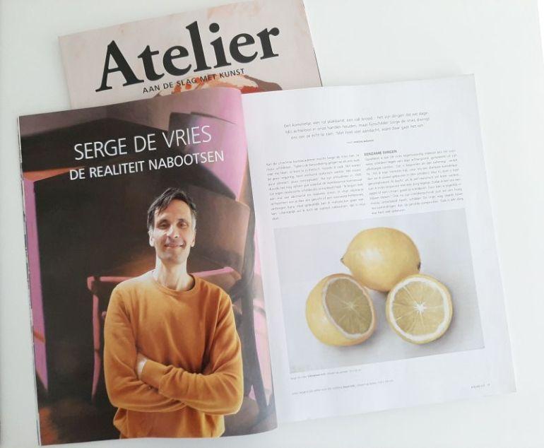 Magazine Atelier juli 2021, interview Serge de Vries, pagina 1-2