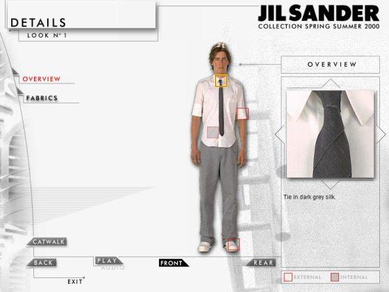 Jil Sander - Collezione Interattiva 2000 - Look 1 Ties