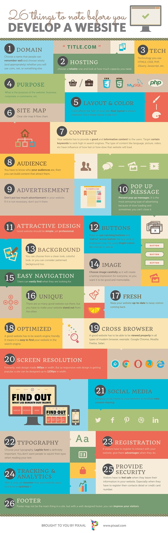 26 things to note before develop website