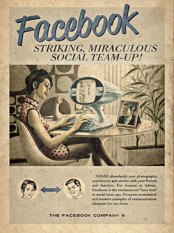 Vintage Facebook ADV by Moma