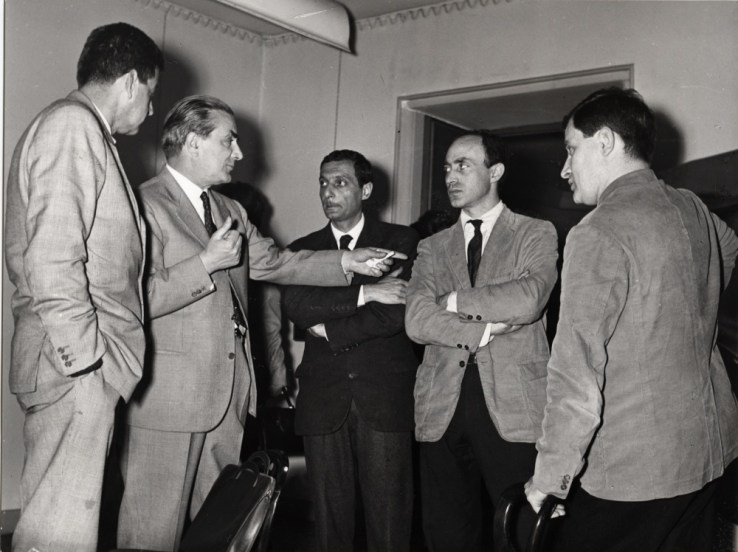 Franco Bemporad, Lucio Fontana, Arnaldo Pomodoro, Gio Pomodoro, Pietro Consagra, Ettore Sottsass
