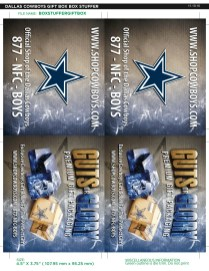 Dallas Cowboys Box Insert