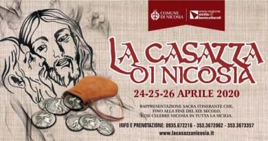 Presentata la Casazza di Nicosia 2020, si svolgerà il 24-25-26 aprile – VIDEO