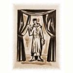 Pierrot au masque (sépia) - Série Finita la Comedia