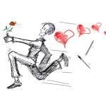 Anciennes Illustrations - Running loving