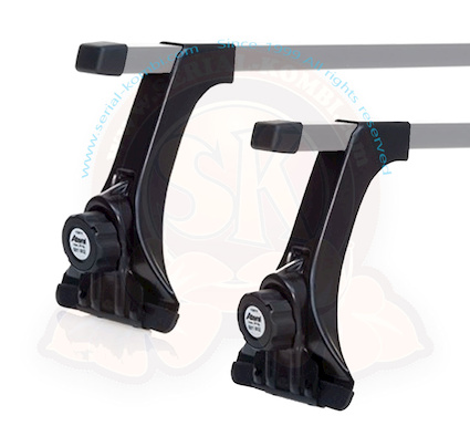 support feet for sk102509 roof rack 20cm high for classic rain gutter t1 2 3 or on reimo multirail t4 5 6 per pair max load 100kg tuv