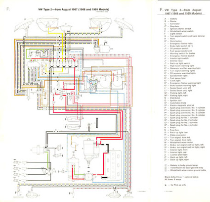 2007 Volkswagen Rabbit Fuse Box Diagram Sch 233 Ma 233 Lectrique Couleur 8 1967 1969 En Anglais Zvwbus68 69gb