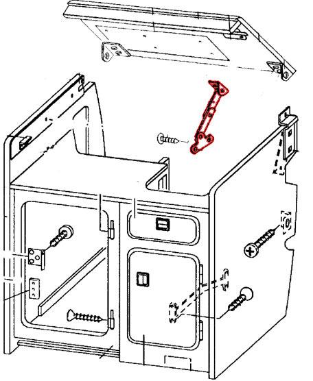 Compas d'ouverture de tablette sur évier Joker Westfalia 5
