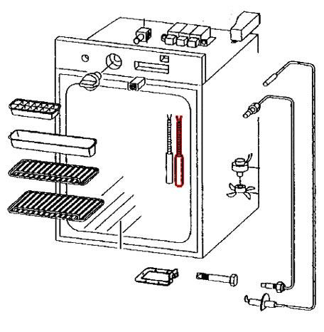 Cartouche chauffante 220V/85W pour réfrigérateur RM184