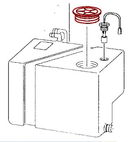 Bouchon de réservoir d'eau propre T4 9/1990-6/2003