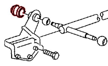 Douille palier d'axe de fourchette de sélection de vitesse