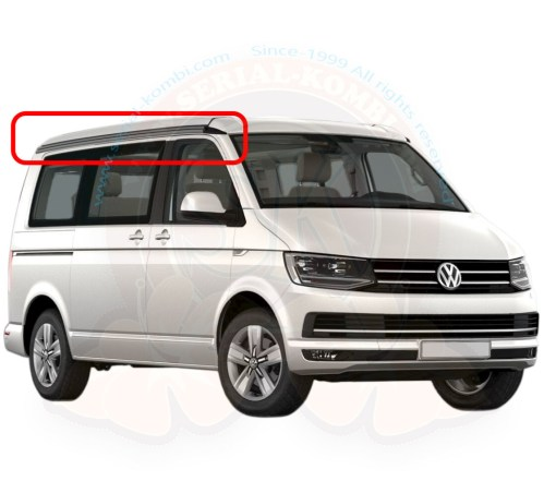 small resolution of vw awning form rail brushed aluminium factory installed on t5 4 2003 8 2015 t6 9 2015 california right side 7h7875312