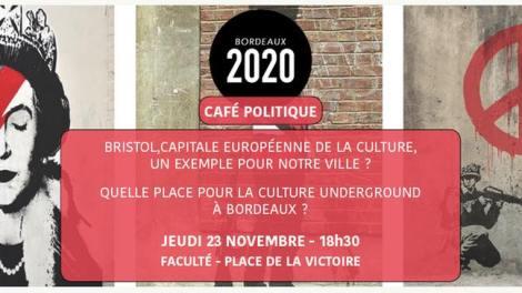 Le Café Politique de Bordeaux 2020 sur le thème de Bordeaux et la culture