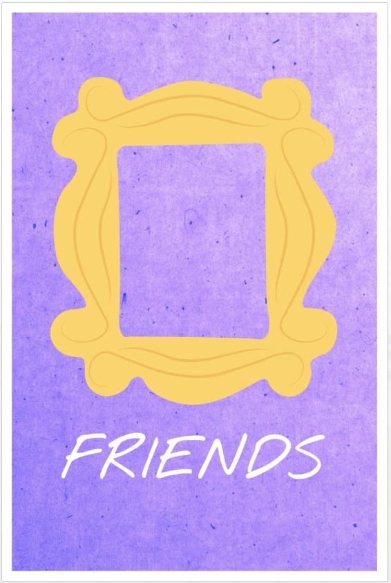 20 Poster Minimalisti Di FriendsSerial Minds – Serie Tv