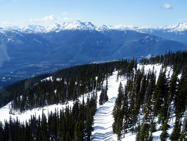 montagne de whistler vers blackcomb