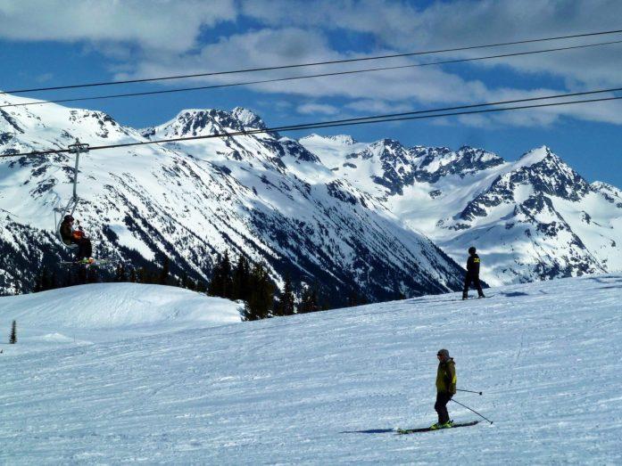 descente en ski à whistler
