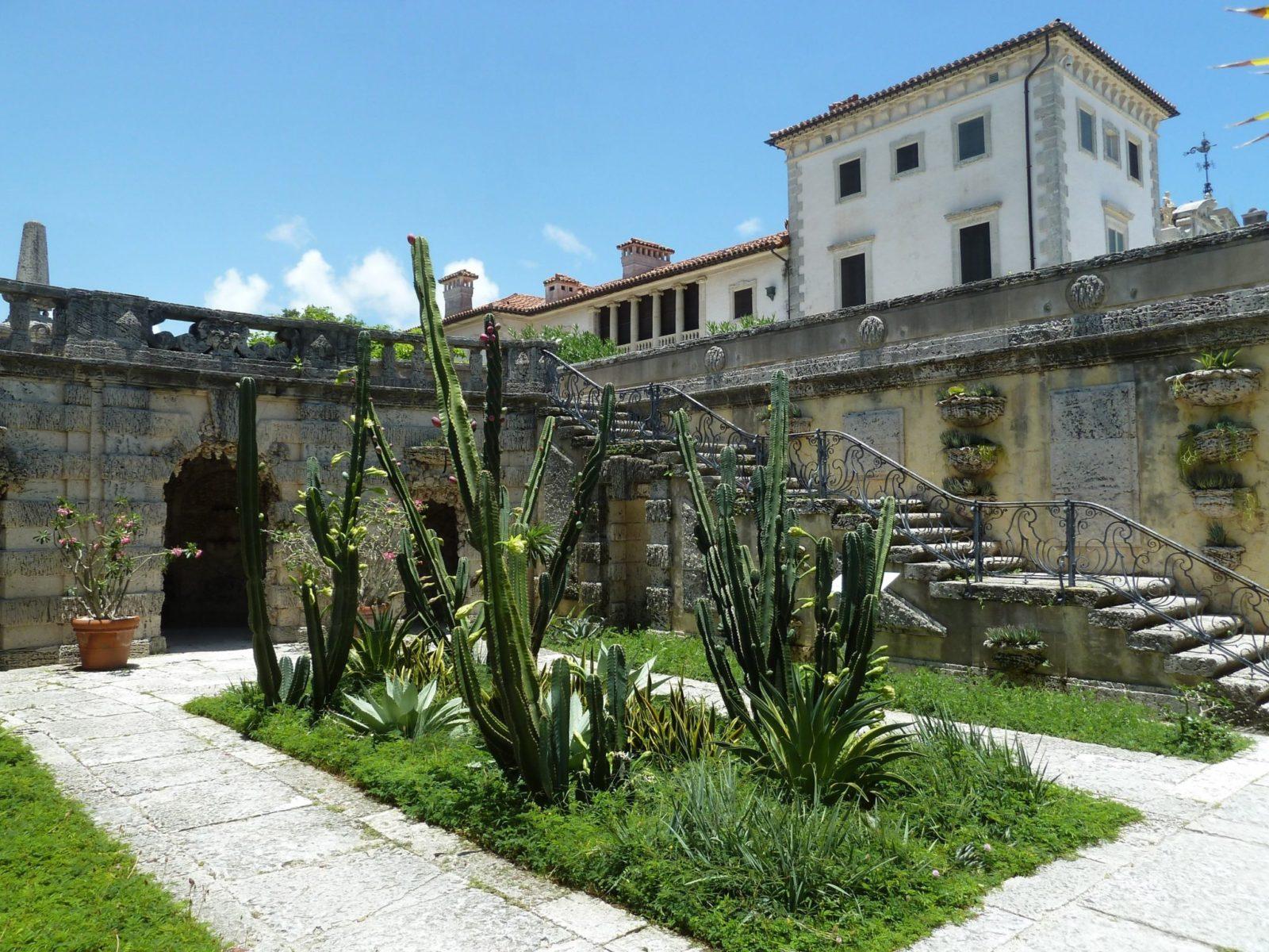 Des Cactus dans le jardin de villa Vizcaya