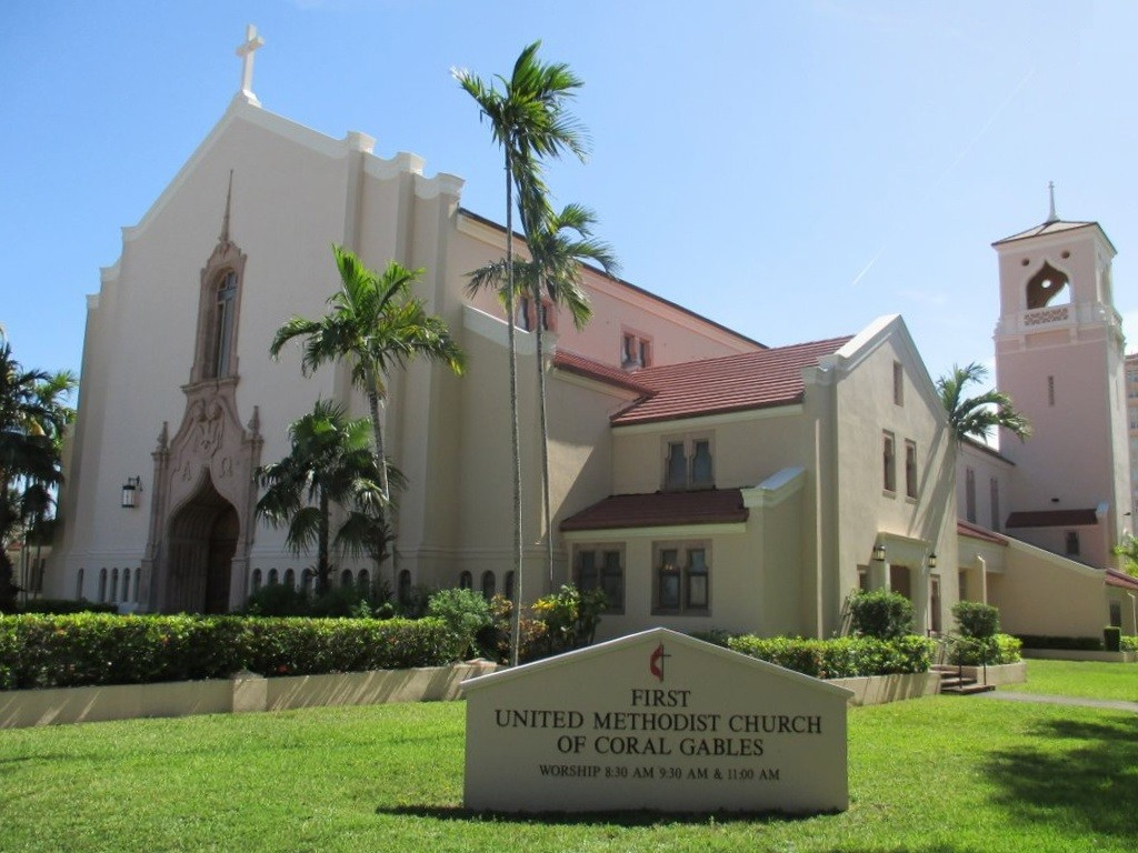 Eglise méthodiste à Coral Gables Miami