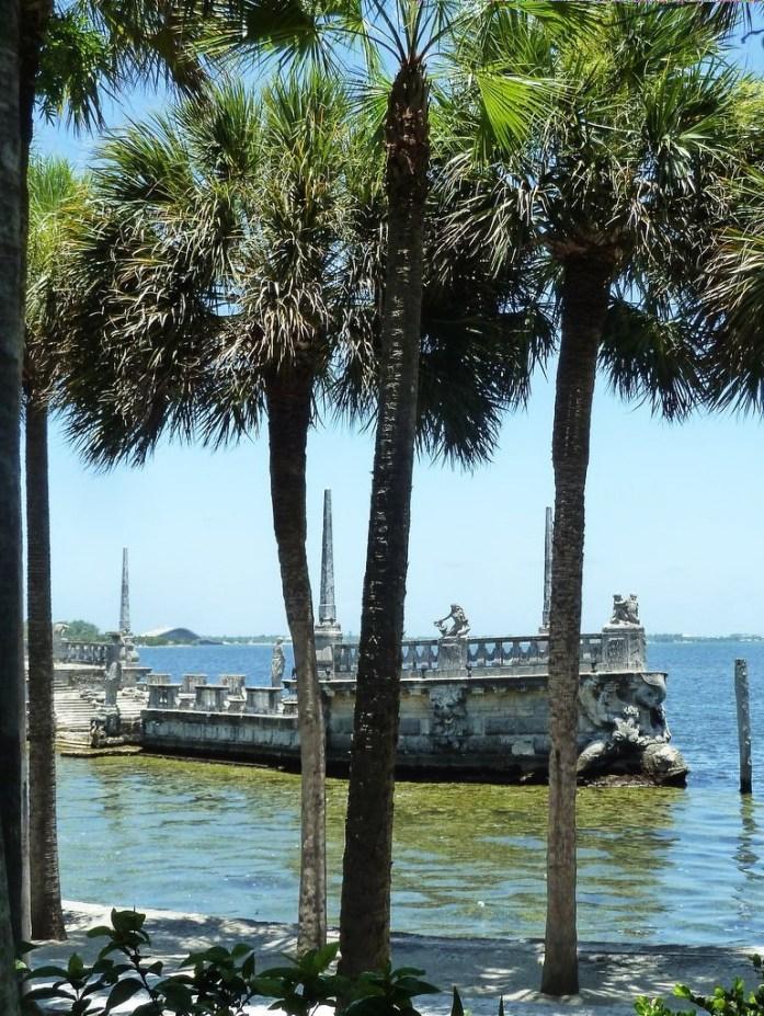 vue de la baie Biscayne depuis la Villa Vizcaya