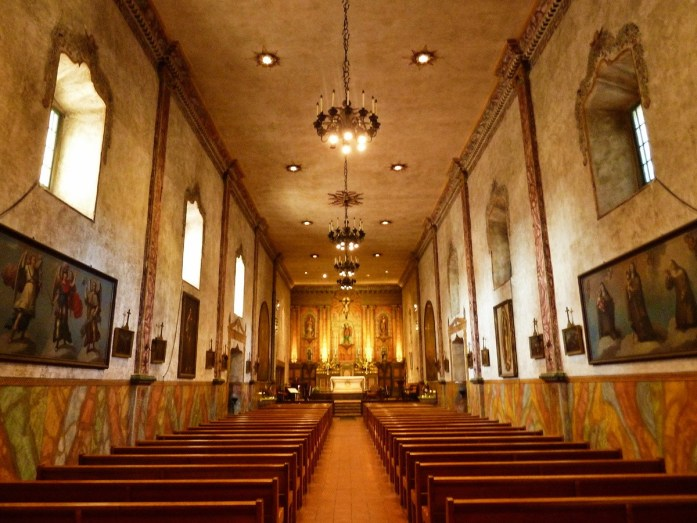 intérieur de la mission santa barbara