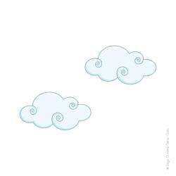 sticker petits nuages
