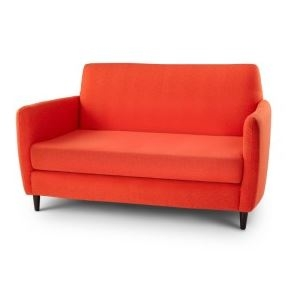 orange upholstered chair rooms to go dining room chairs loveseat purple faux wool furniture mid alternative views