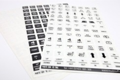 Carling Switch Legend Decals (black/clear, white/clear, or