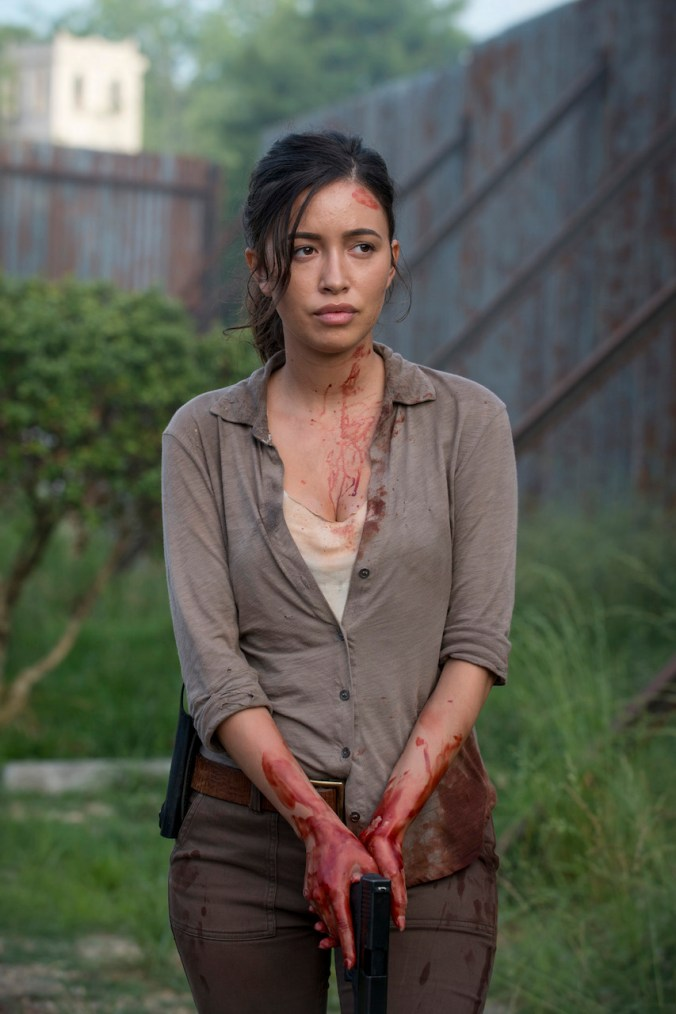 Christian Serratos as Rosita Espinosa - The Walking Dead _ Season 6, Episode 2 - Photo Credit: Gene Page/AMC