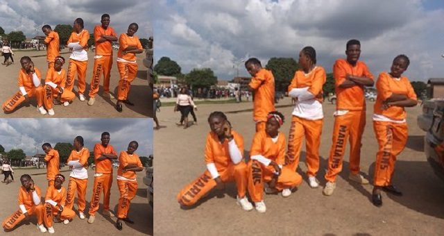 Image result for Naira Marley Fans (Marlians) storm UNIBEN for costume day