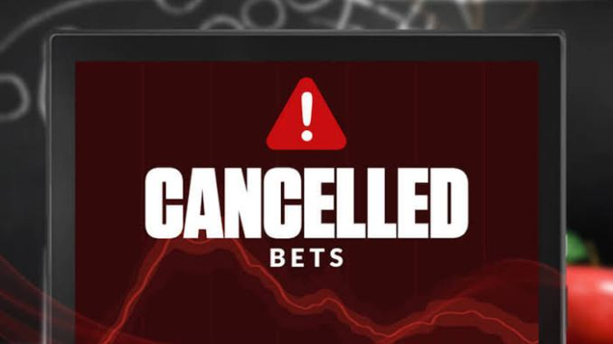 Canceled Bets: When They Are Given And Keys To Take Into Account