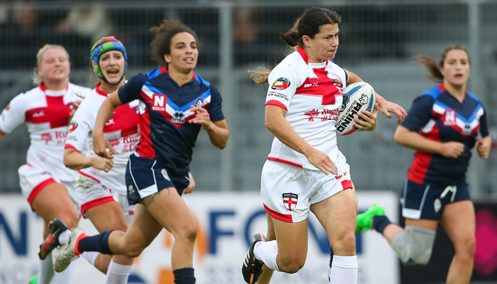 Women's RL - England faced France in 2016