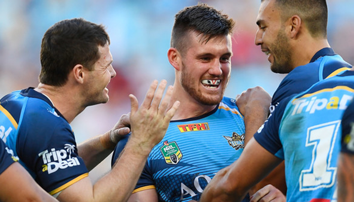 WATCH: Joe Greenwood scores sensational try for Gold Coast Titans