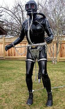 latex tranny bondage