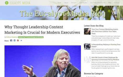 Eucalypt Media Thought Leadership: Serious Insights Principal Analyst Daniel W. Rasmus Quoted