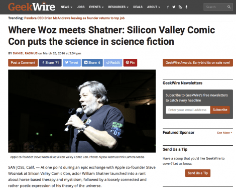 Where Woz meets Shatner: Silicon Valley Comic Con puts the science in science fiction up at GeekWire