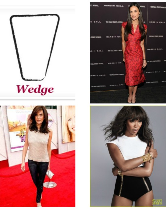 The wedge body shape is a rare one unless you are walking on the runway, but they too have their own style challenges. Check out our deets to look great.