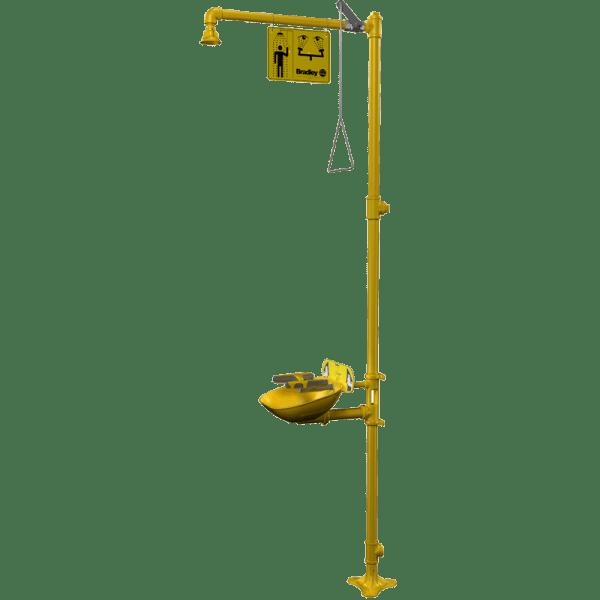 S19-314FW Sistema de Ducha + Lavaojos de Emergencia