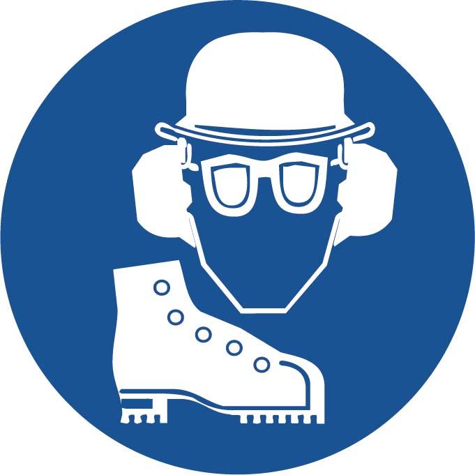 Port Casque - Protection auditive - Lunettes - Chaussures Image